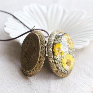 open lockets with charms