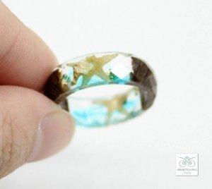 seashell resin ring