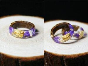 flower resin ring