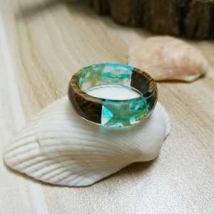 seashell resin ring
