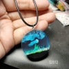 jellyfish resin pendant