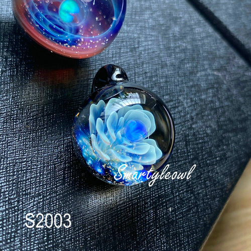 galaxy glass pendant