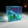 scuba diver resin diorama