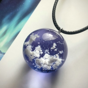cloud resin pendant