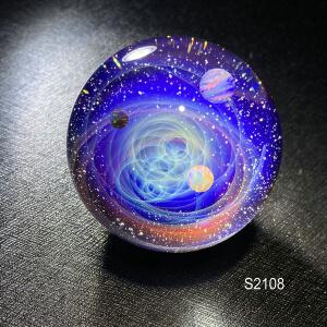 galaxy glass sphere